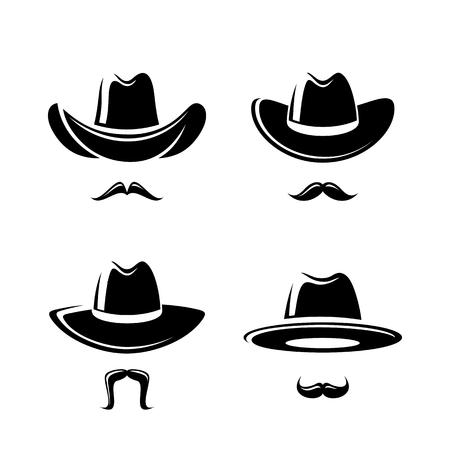 bfe4b999619 Cowboy hat set. Vector illustration