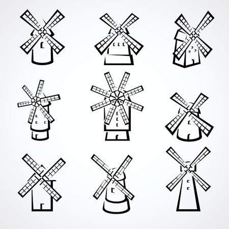 Set mulino. Vettore