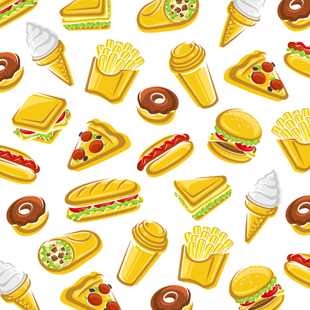 Fast food background. Vector