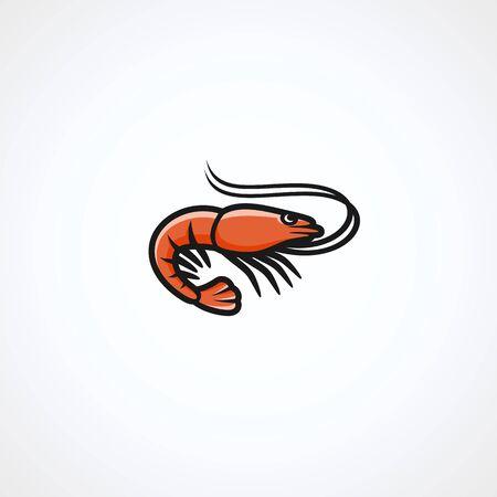 Shrimp set. Collection icon shrimp. Vector Illustration
