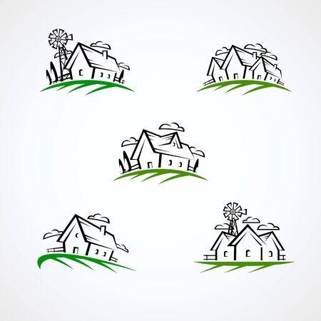 House set.Collection icon house. Vector Иллюстрация