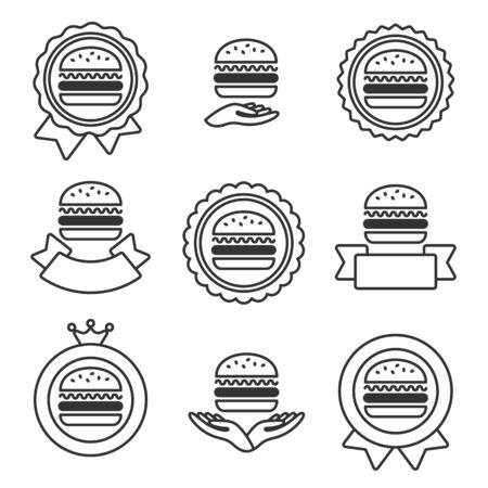 Hamburger labels and elements set. Collection hamburger icons. Vector Ilustracja