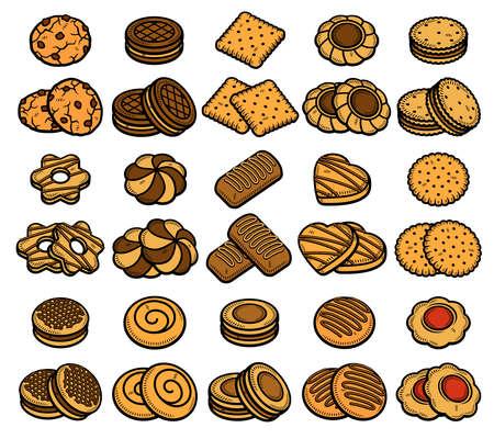 Cookies set. Collection icon cookies. Vector Stock fotó - 153293813