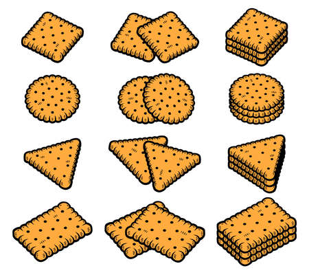 Cookies set. Collection icon cookies. Vector Stock fotó - 153293814