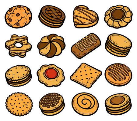 Cookies set. Collection icon cookies. Vector Stock fotó - 153293817