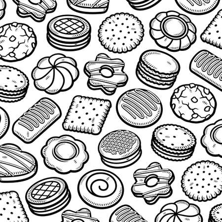 Cookies pattern background set. Collection icon cookies. Vector Stock fotó - 153293818