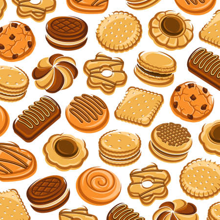 Cookies pattern background set. Collection icon cookies. Vector Stock fotó - 153293820