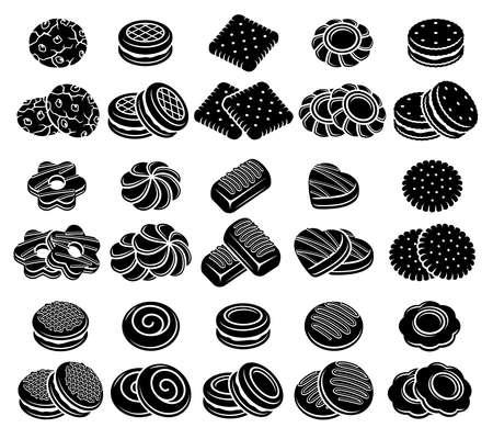 Cookies set. Collection icon cookies. Vector Stock fotó - 153293825