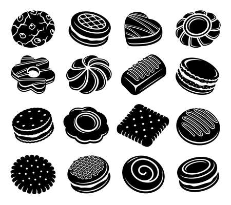Cookies set. Collection icon cookies. Vector