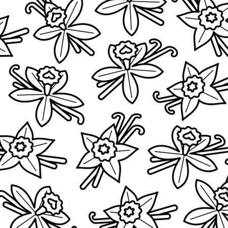 Vanilla pattern background set. Collection icon vanilla. Vector