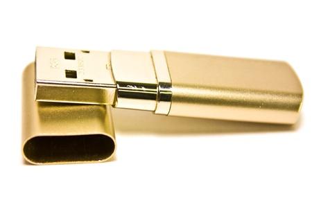 mass storage: Gold USB drive