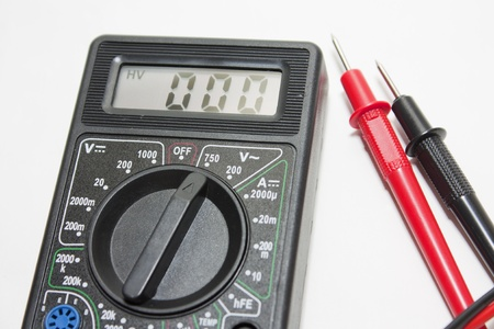 Black multimeter with three zeros Stock Photo - 15626858