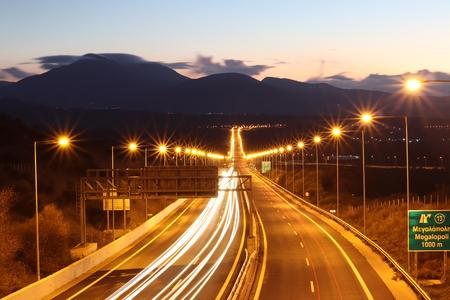 national road corinth to kalamata Stockfoto