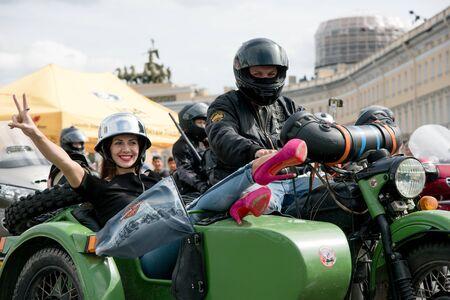 SAINT PETERSBURG. RUSSIA - AUGUST 13 2016. Harley Davidson Days. World Bike festival in Russia.