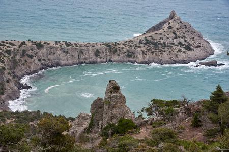 Cape Capchik near Noviy Svet village in winter Crimea. Standard-Bild