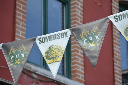 Cider Somersby Banner Standard-Bild - 69196438