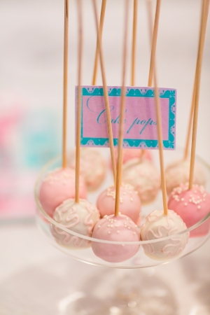 Cute spherical candys in plate photo