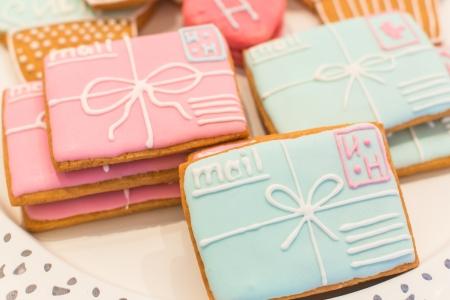 envelops: Cookies made as mail envelops Stock Photo