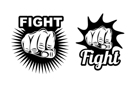 Set of fight icons Stock Illustratie