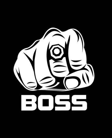 Boss illustration Stok Fotoğraf - 135824391