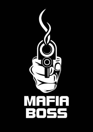Mafia gun vector