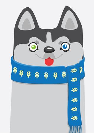 beanie: Winter husky in the scarf