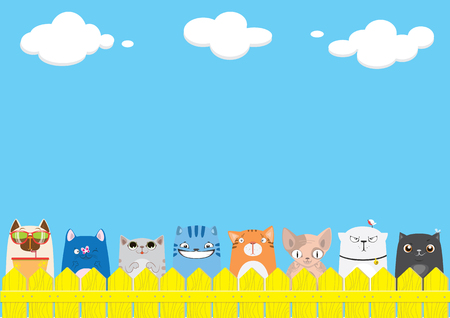 Cute pets background