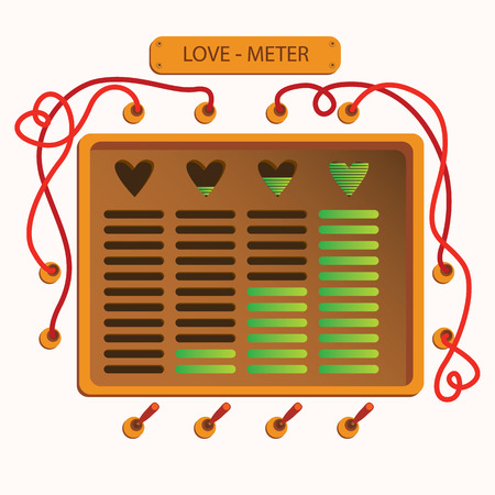 Love meter mashine. card for Valentines day