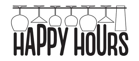Happy hours Banner Çizim
