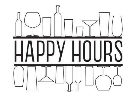 Happy hours Banner Vettoriali