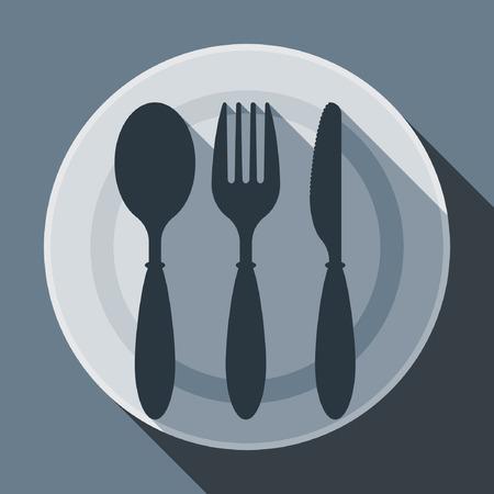 illustration set of flatware