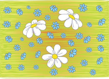 found: Background a camomile. Vector. Similar images can be found in my gallery