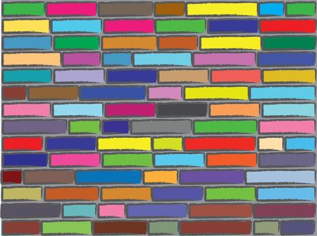 Brick abstract wall. A vector.   photo