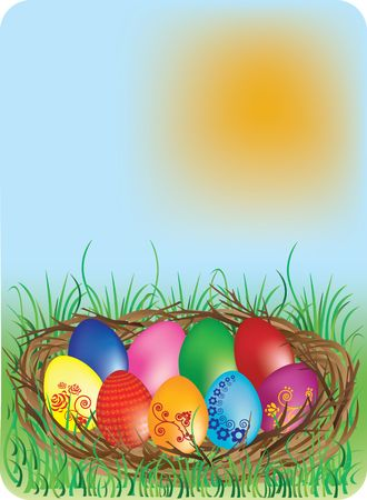 Easter eggs. Similar images can be found in my gallery