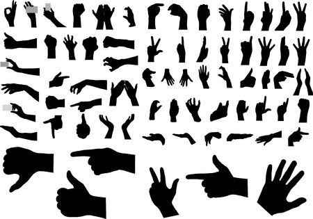 Gestures of hands. The big collection. For similar works search in my galleries.