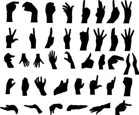 Gestures of hands. The big collection. For similar works search in my galleries.  photo