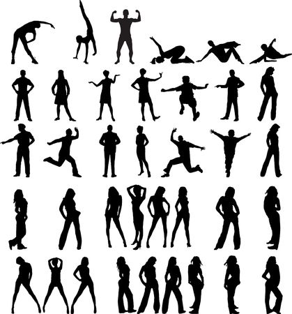 Set people. Vector. Similar images can be found in my gallery.  Stock Photo - 3633576