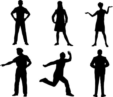 Set people. Vector Stock Photo - 3633512