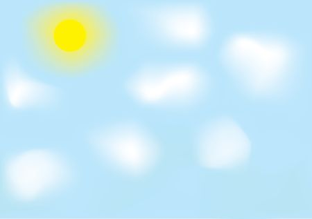 Sky. The realistic sky with sun and clouds. Mesh