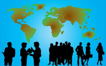 People in the globe. Similar images can be found in my gallery  photo