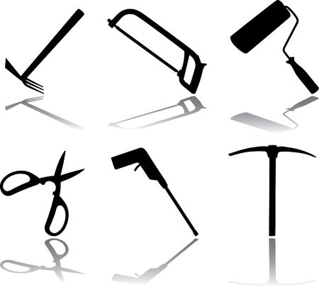 Set icons. Tools.  Stock Photo