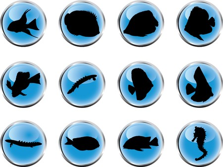 Set fish. Vector  Stock Photo - 4287535