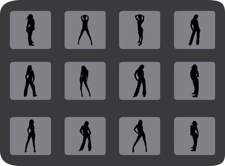 femme dessin: Personnes Set. Vector. Images similaires peuvent �tre trouv�es dans ma galerie.