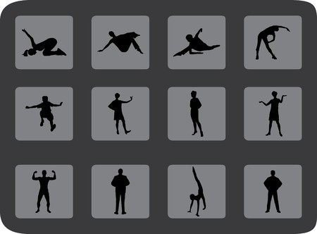 Set people. Vector. Similar images can be found in my gallery. Stock Photo - 4287493