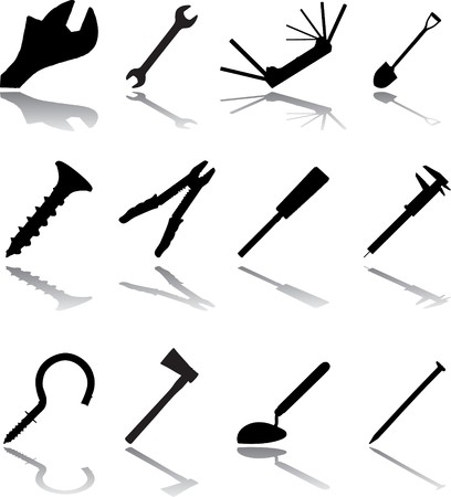 Set icons. Tools.  Stock Photo - 4287488