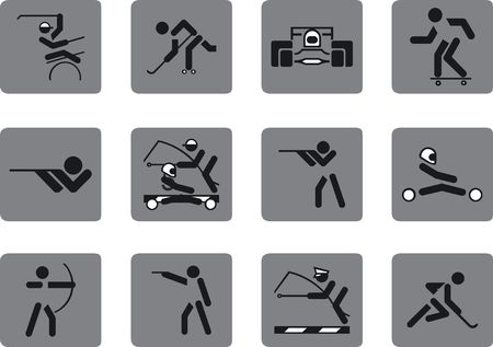 Set on sports subjects.  photo