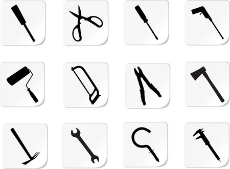 Set icons. Tools. Similar images can be found in my gallery.
