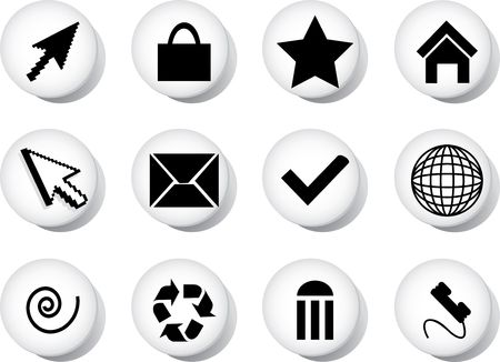 button art: Set icons.. Similar images can be found in my gallery.