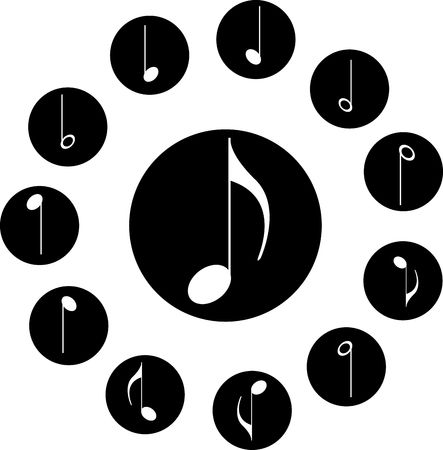semiquaver: Icon. Music notes. . Similar images can be found in my gallery.