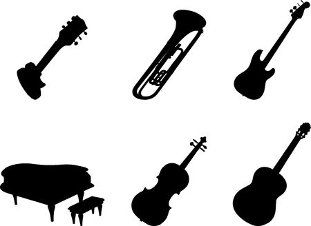 melodist: Set of musical instruments. Similar images can be found in my gallery.